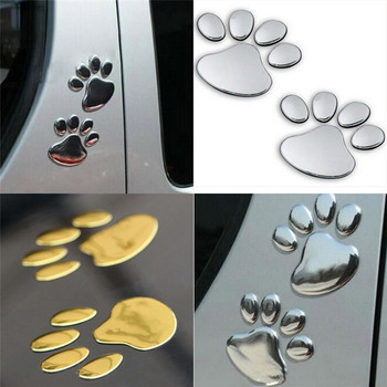 Gold Siver Waterproof Car Sticker Animal Footprint Auto Decal Graphics Stickers Body Decals image