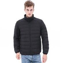 купить 2019 New Winter High Quality Down Jackets Men Windproof Seamless Hooded Puffer Winter Coat Man Lightweight Portable Outerwear дешево