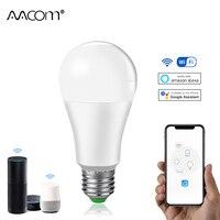 Bombilla inteligente E27 B22, 15W, 85-265V, 1800 lm, LED, ampolla, WiFi, asistente de Google Home, Alexa Echo, Control de vida inteligente