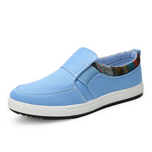 цены New Fashion Sneakers Men Casual Canvas Shoes Fashion Slip-on Vulcanize Shoes Flats Breathable Comfortable Loafers Promotion