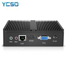 YCSD بدون مروحة جهاز كمبيوتر صغير إنتل سيليرون N2930 ويندوز 10 4GB RAM 120GB SSD 300Mbps واي فاي جيجابت إيثرنت HDMI VGA 5 * USB HTPC