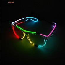 Elbru светодиодный двухцветные светящиеся очки для мужчин и женщин, мигающий светильник, очки для рождества, свадебные, для танцевальной вечеринки, украшения