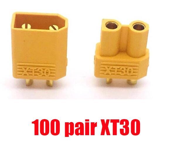 100 пар, высокое качество, XT60 XT-60 XT 60 XT30 XT90, штепсельная вилка, штепсельная Вилка для RC Lipo батареи,, Прямая поставка - Цвет: 100 pair XT30
