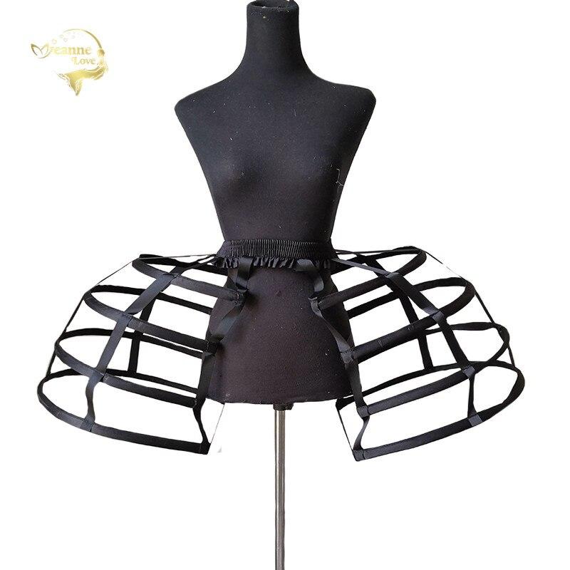 50s femmes creux court oiseau Cage jupons taille élastique Cosplay cerceaux mariage bal Crinoline Slip Vintage Rococo sous-jupe