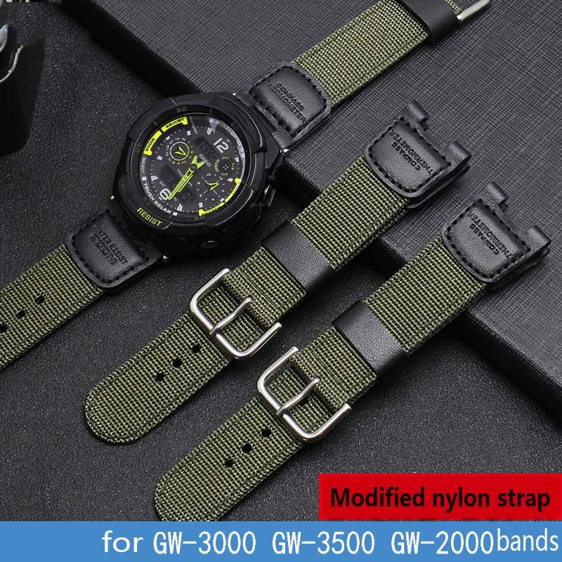 Bracelet de montre en Nylon de haute qualité pour G-SHOCK Casio GW-3500B GW-3000B 24*11mm