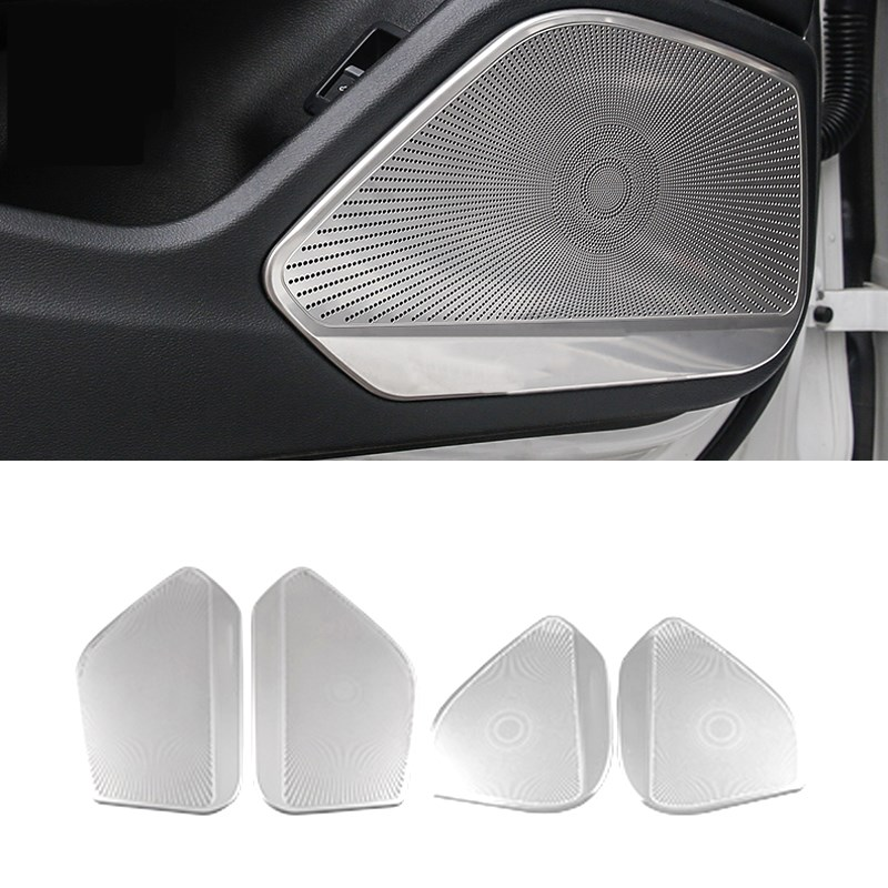 For Audi A4 B9 A5 S4 S5 2015 2016 2017 2018 2019 Car Door Audio Loudspeaker Sound Frame Speaker Cover Trim Sticker Accessories