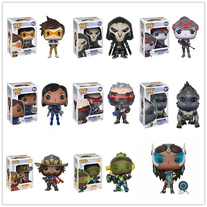 Funko pop tracer winston viúvo farah reaper gabriel reyes soldado modelo figura coleção modelo de brinquedo presentes