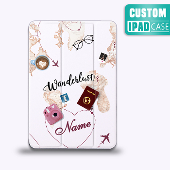 DIY Name Case Travel For iPad Pro 2020 11-inch Tablet Cover Auto Sleep Wake For iPad Mini 5 4 PU Protect Skin iPad Air 3 2 Case for ipad 2 ipad 3 ipad 4 case pu leather tablet cover full protection 9 7 inch drop resistance dog pattern shell
