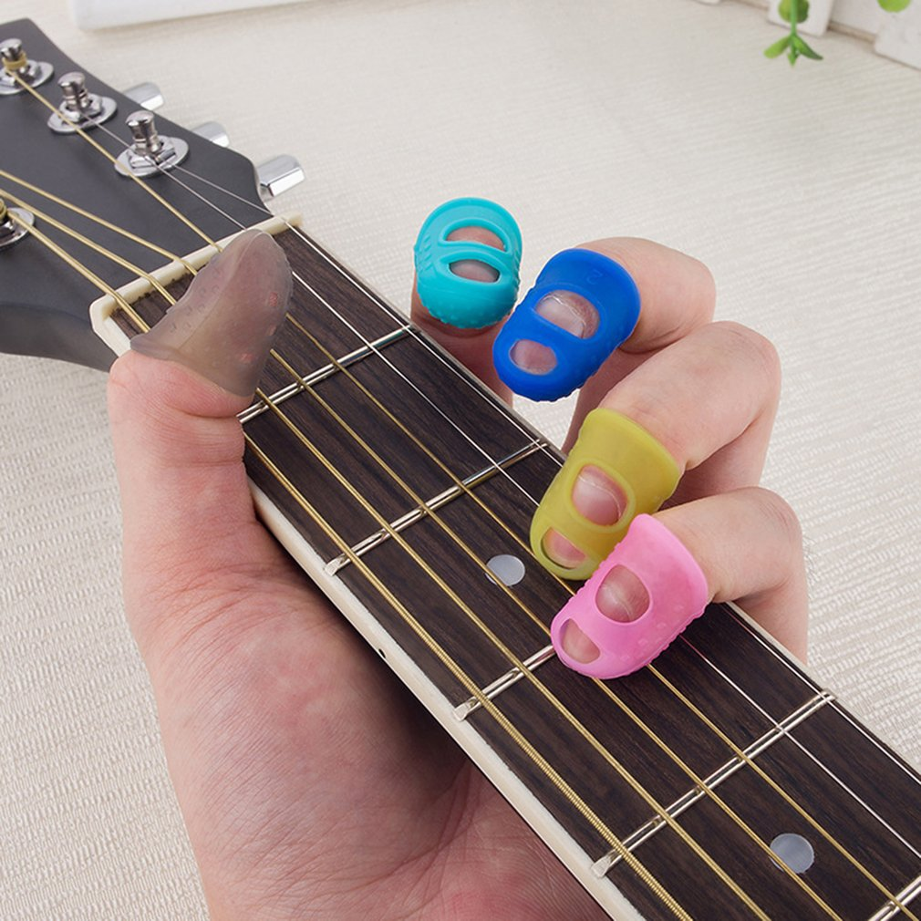 Guitar Fingers Silicone Left-handed Fingers Protective Sleeve Beginner Exercises Strings Finger Protector
