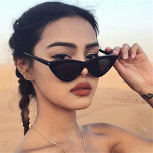 Retro Cat Eye UV400 Sunglasses Small Triangle Sun Glasses Female Shades Eyeglasses Unisex Streetwear Eyewear for Women Ladies