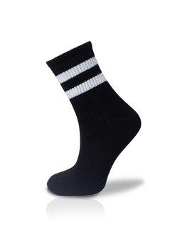 White Striped Socket Socks Unisex 36 42