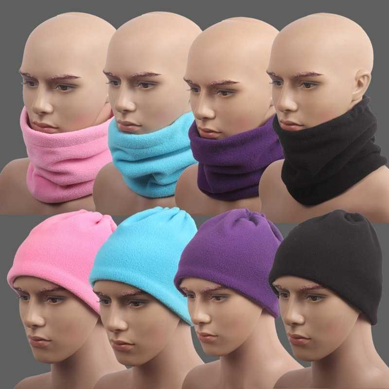 1 Pza 3in1 Unisex Beanie Hats Ski Snood Scarf mujeres hombres bufanda de lana térmica bufanda calentador de cuello máscara facial invierno primavera