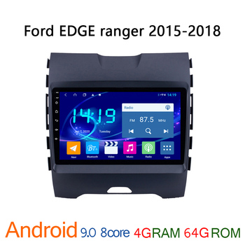 4G + 64G IPS android autoradio for Ford Edge Ranger 2015 2018 car radio coche audio auto stereo GPS navigator DVD multimedia BT image