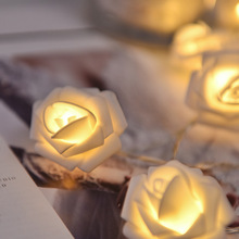 1,5 м 10 светодиодный 3 м 20 светодиодный AA аккумулятор светодиодный Рождественский светильник с розами праздничный струнный светильник s Valentine свадебное украшение цветочный светильник