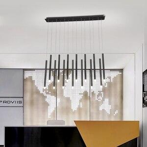 Image 5 - Modern LED Pendant Lights 30W 40W Black/Rose Gold Hanging Lamp For Living Dining Room Bar Home Deco Creative Pendant Lighting