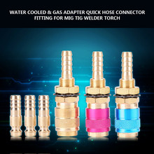 M8 Hose Connector Fitting Water Cooled Gas Adapter Welding Torch And Welding Plug For MIG TIG Welding Torch Red Yellow Blue
