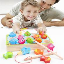 New fishing toy set suit magnetic play water baby toys fish square hot gift for kids toys for children Free Shipping @A(China)
