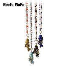 NeeFuWoFu цепь из нержавеющей стали шейный платок национальная Мода грузило рыболовное напульсник piedra Mujer de богемный браслет ювелирные изделия