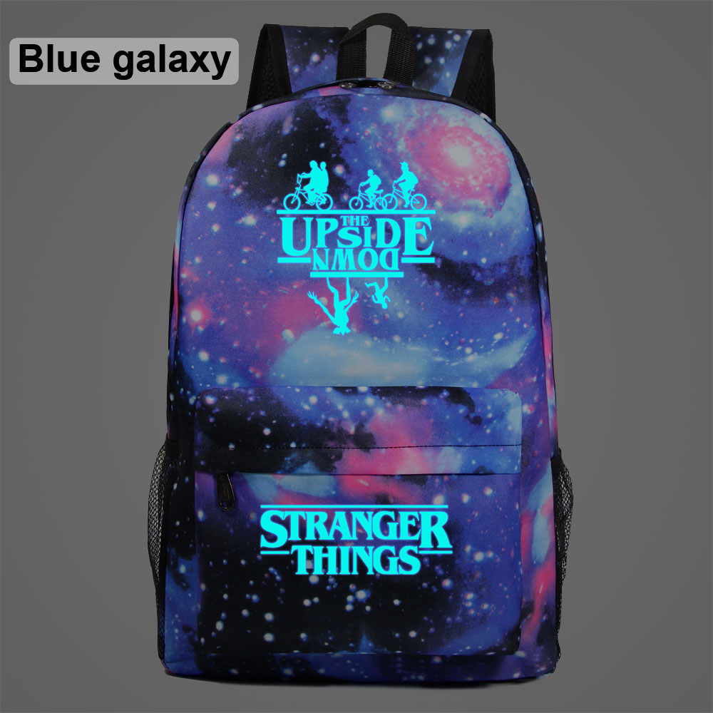 Luminous Stranger Things Bicycle Demogorgon Galaxy Lightning Children School Bag Teenagers Student Schoolbags Women Men Backpack