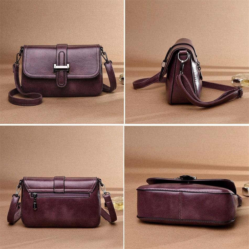 Image 5 - Vintage 3 in 1 Crossbody Bags For Women Messenger Bags 2019 Leather Luxury Handbags Women Bags Designer Sac A Main FemmeShoulder Bags   -