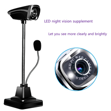 PC Network HD Camera 30 FPS Frame Desktop Notebook Computer Office Camera With Microphone Night View Free Shipping dl66 hd network pc camera