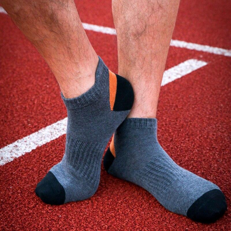 Мужские хлопковые носки для велоспорта, быстросохнущие спортивные носки для бега, походов, альпинизма, фитнеса, профессиональные спортивны...