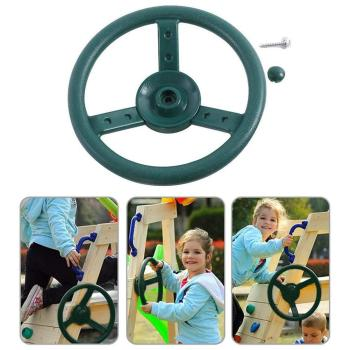 Children's Climbing Frame Toys Steering Wheel Pirate Playground Set Wheel Ship Sports Outdoor Garden Swing Accessory Game C3M3