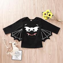 New Fashion Cute Newborn Baby Boys  Long Sleeve Cartoon Print Halloween Cosplay Costume Tops Clothes