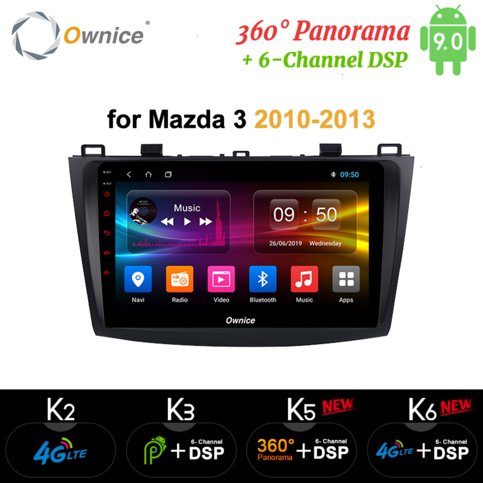 Ownice Android 9.0 <font><b>Car</b></font> DVD Multimedia Player Auto <font><b>radio</b></font> Vehicle GPS Navigation Stereo for <font><b>Mazda</b></font> <font><b>3</b></font> <font><b>2010</b></font> 2011 2012 2013 dsp rds pc image
