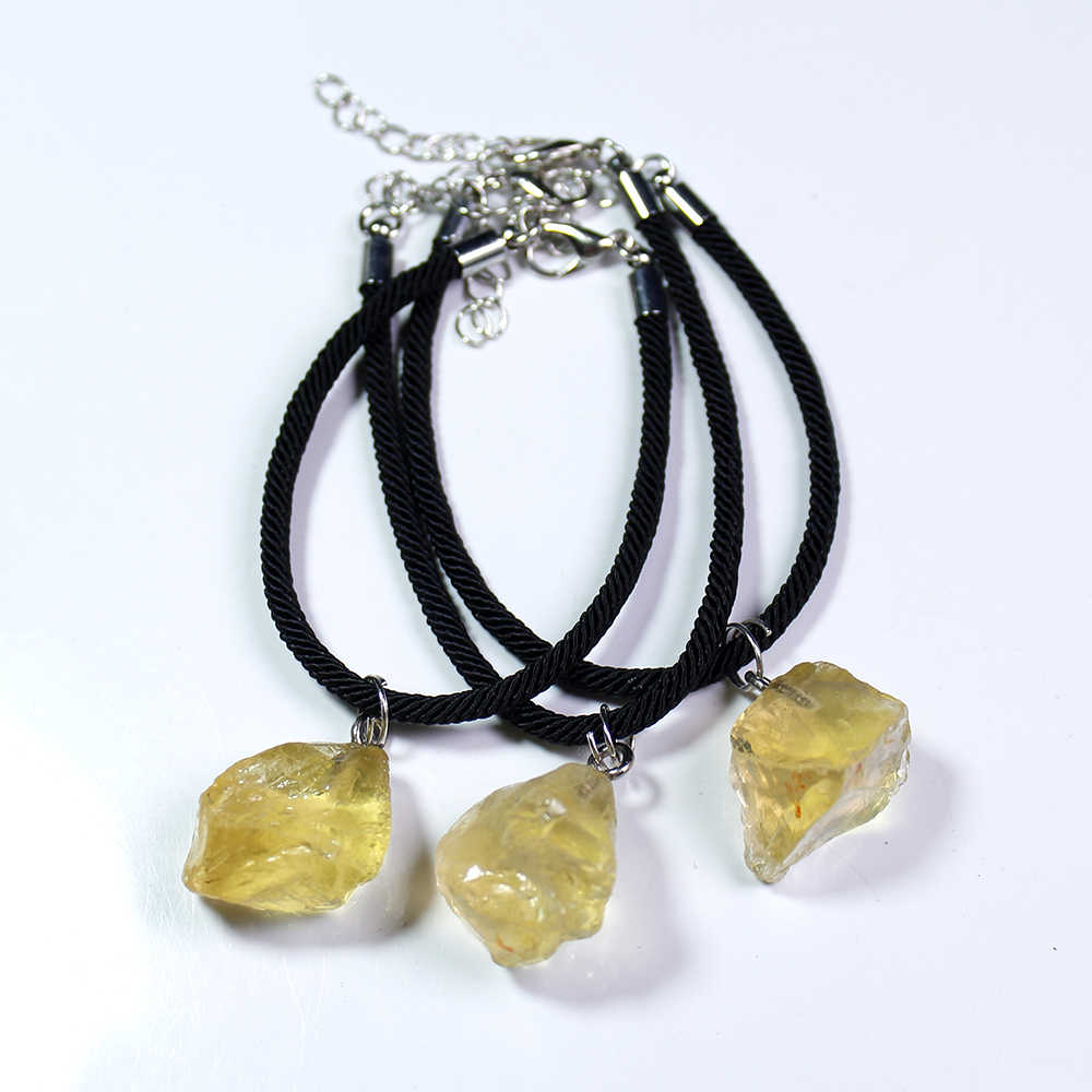 Runyangshi 1pc טבעי גביש אבן צמיד רוז קוורץ גדול תבואה אבן סיטרין קישוטי עבור מתנות