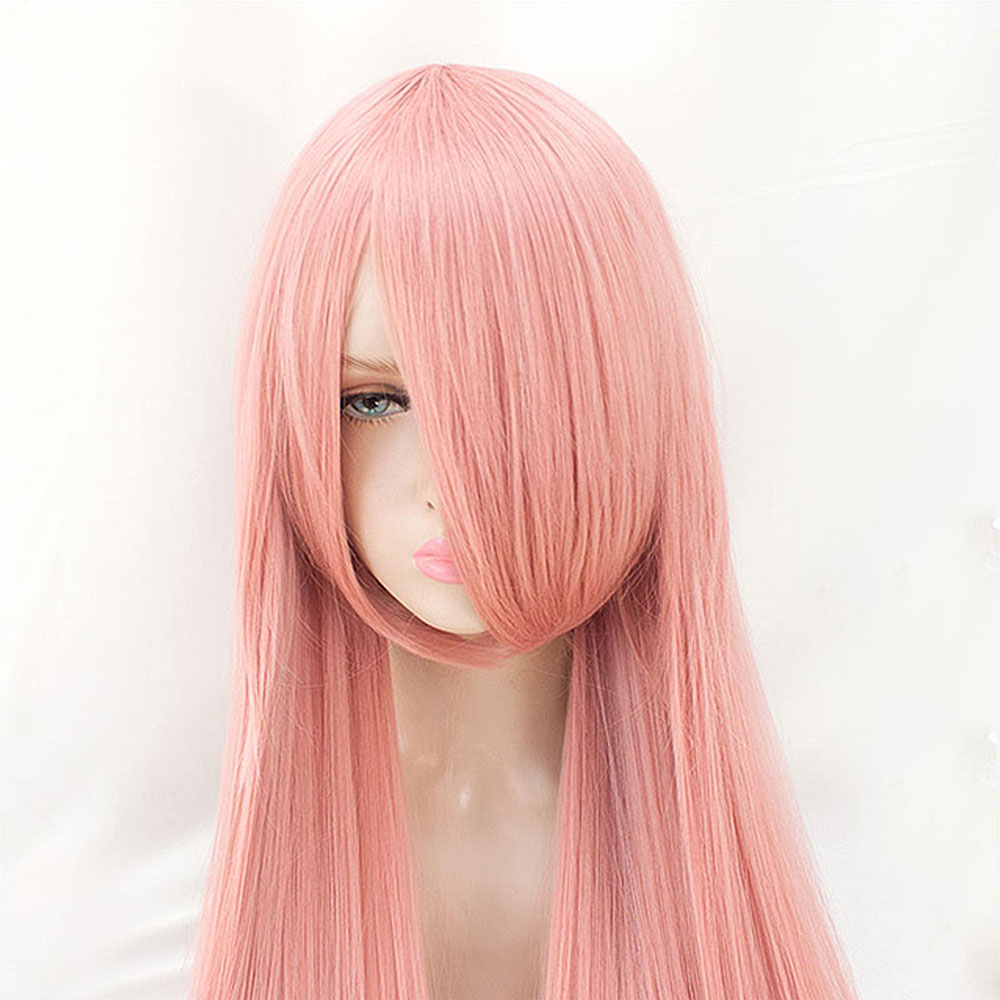 Image 4 - Xnaira 38 Inch 100cm Long Cosplay Lolita Wig Afro Easy To Match Anime Party Ombre Blonde Synthetic Wigs With Bangs For WomenSynthetic None-Lace  Wigs   -