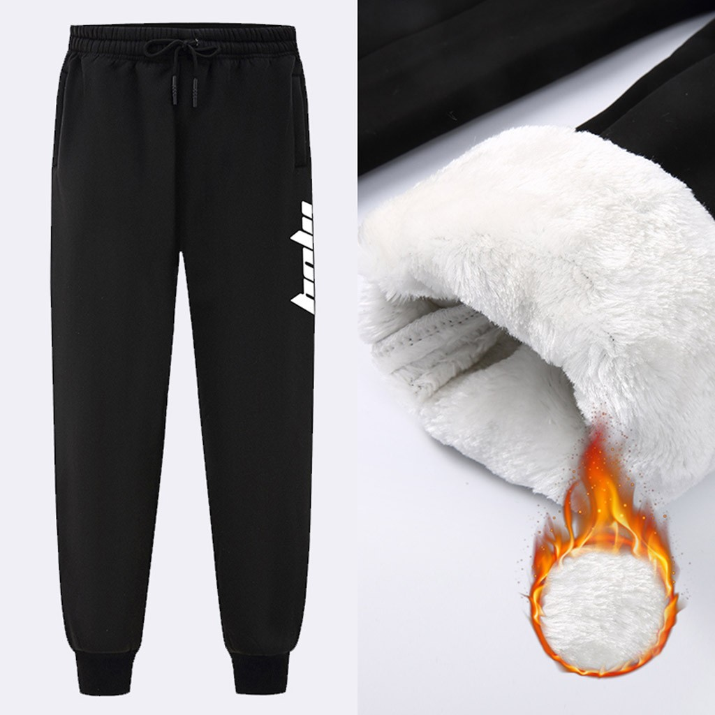 Trousers Velvet Streetwear Pantalones Long-Pant Winter Men's Plus De Autumn Leisure Hombre title=