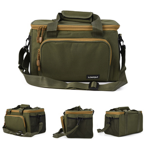 Image 1 - Мужская сумка для рыбалки Lixada, многофункциональная сумка на плечо, сумка для рыбалки, рыболовная катушка, сумка для хранения, рыболовная снасть 37*25*25 см
