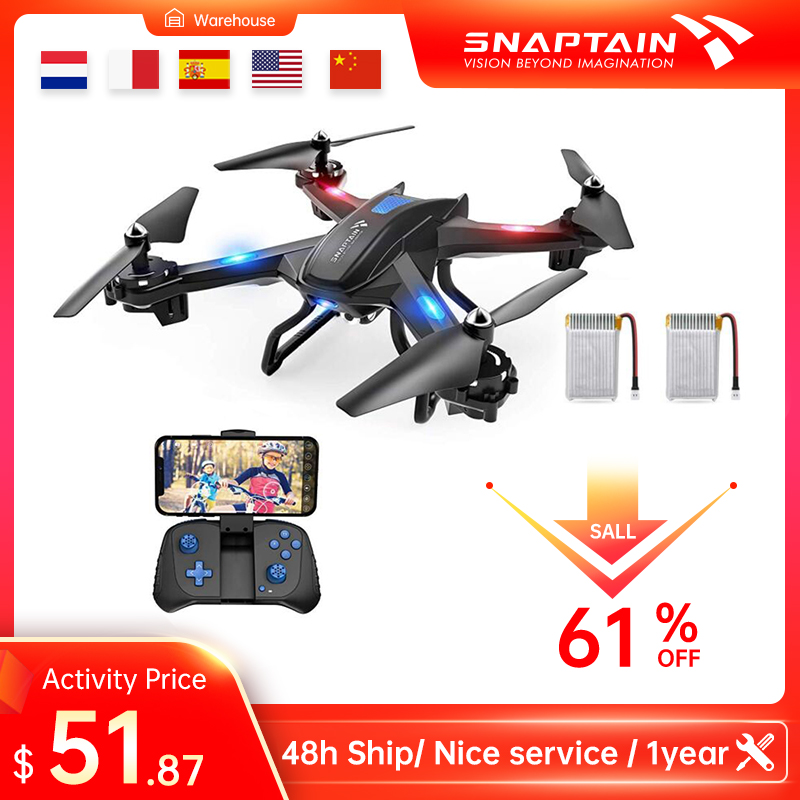 SNAPTAIN S5C Drone WiFi FPV 720P HD drones camera Voicewith control Gravity Sensor Function RTF Christmas Gift For Kid Beginner