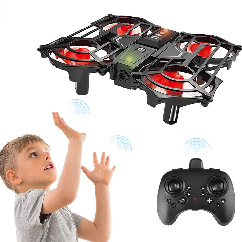HobbyLane C51 Induction Mini Drone Gesture Sensing Roll Rotary Aircraft Remote Control Aircraft Toy Model Gift