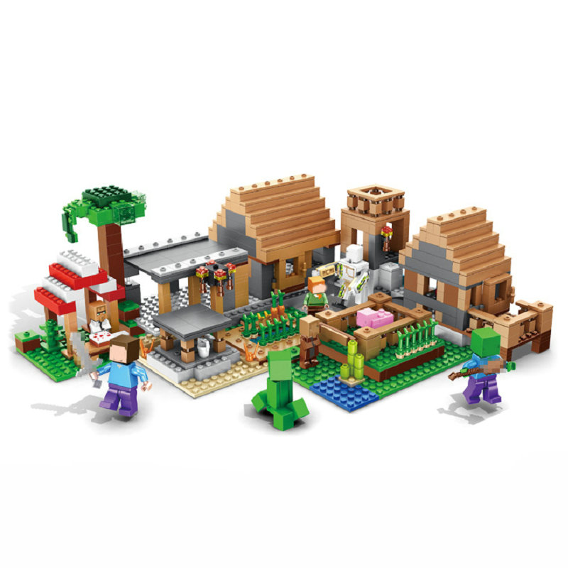 The The Farm Village Set Building Blocks With Action Figures Compatible Lepining MinecraftINGlys Sets Toys For Children