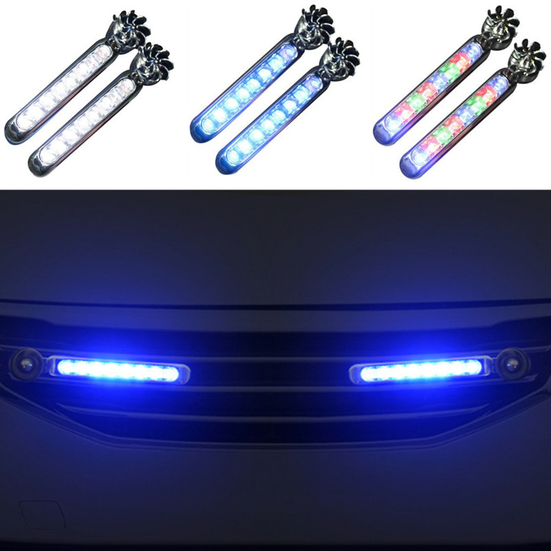 2pc LED Wind Powered Daytime Running Lights Auto Accessories for SsangYong Actyon Turismo Rodius Rexton Korando Kyron Musso image