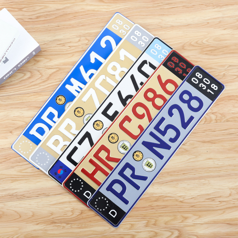 Wholesale 1000pcs Best Quality Custom Embossed Sublimation Metal Car Aluminum License Plate For Decor