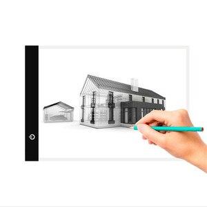 Image 3 - אלקטרוני אמנות גרפי ציור כתיבה שולחן A4 ציור לוח דיגיטלי גרפיקה Pad USB LED אור תיבת התחקות עותק לוח