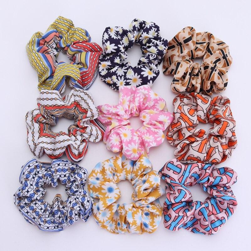 3Pcs New Daisy Flower Women Hair Scrunchies Girls Elastic Hair Bands  Children Hair Holder Hair Gum Hair Tie Hair Accessories