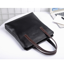 Men's PU leather Tote Bag Men handbag Brand business hand bag Casual Men Shoulder Bag Laptop Briefcase Male Handbags Bags
