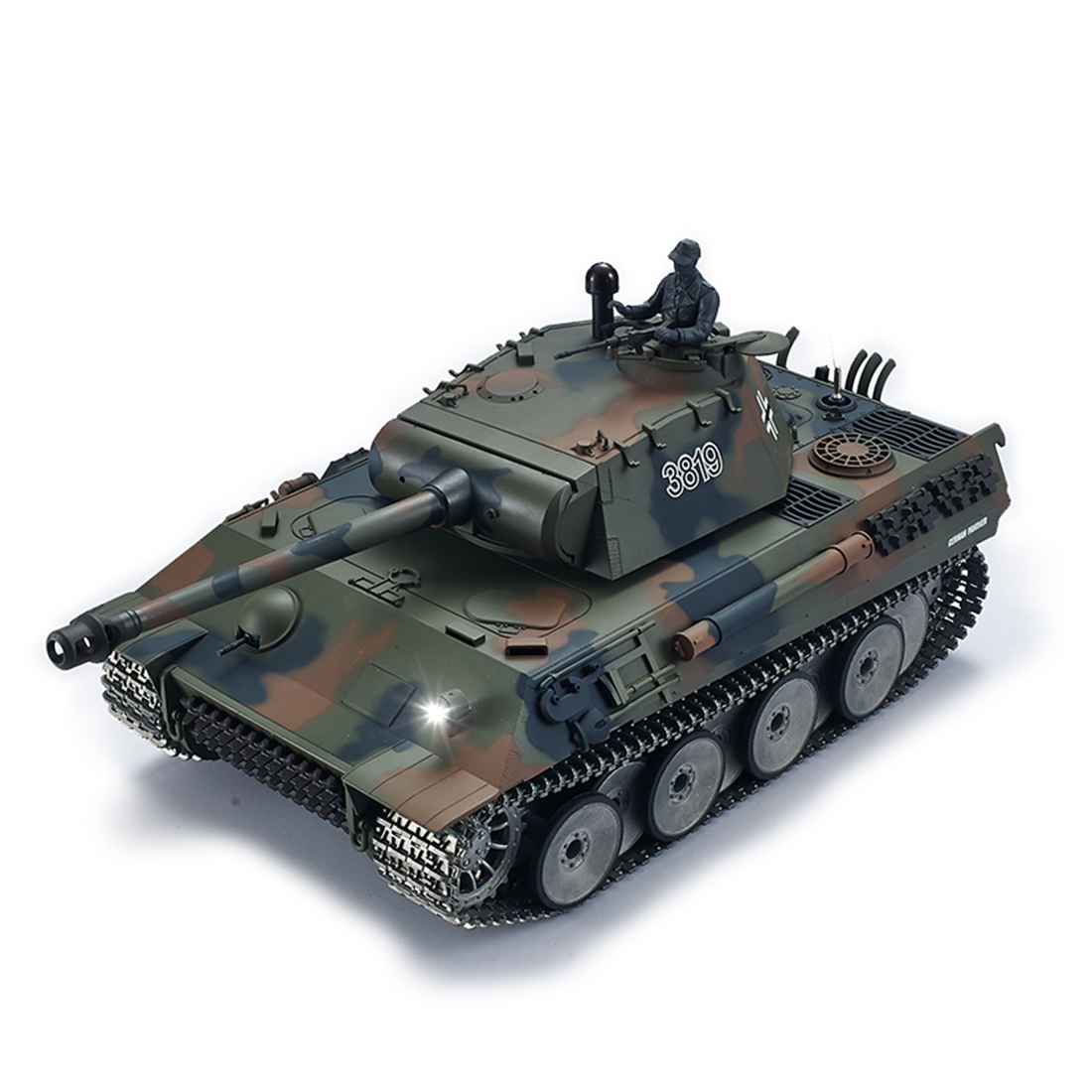 1:16 German Leopard Heavy <font><b>Tank</b></font> 2.4G Remote Control Model Military <font><b>Tank</b></font> With Sound Smoke Shooting Effect 3 Type Edition image