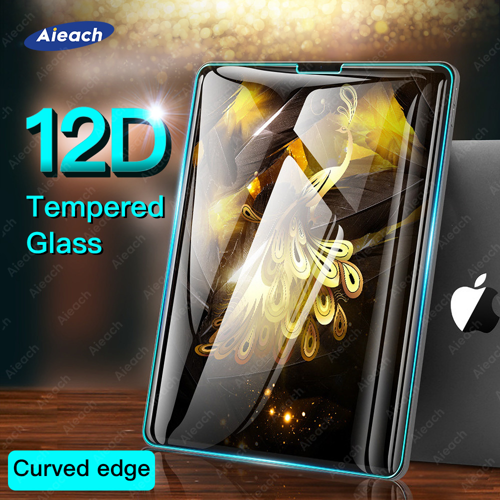 12D Curved Edge Tempered Film For IPad 10.2 2018 9.7 2017 Screen Protector For IPad Pro 11 2020 10.5 9.7 Air 2 3 Mini 4 5 Glass