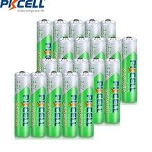 PKCELL แบตเตอรี่ AAA ขนาด 1.2V AAA NiMH NIMH แบตเตอรี่ 850MAH ต่ำการคายประจุ 1200 วงกลมครั้ง 20PCS