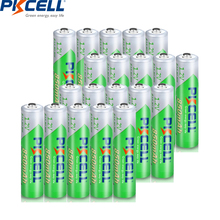 PKCELL AAA battery 1.2V aaa nimh rechargeable batteries NIMH battery 850MAH low self discharging up to 1200circel times 20PCS