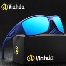 VIAHDA marka tasarım yeni polarize güneş gözlüğü erkekler Vintage spor açık güneş gözlüğü erkek sürüş gözlük Gafas