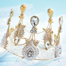 Алмазная головная повязка Свадебная Корона из сплава Европейская
