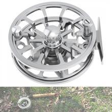 цена на Ultralight Fly Fishing Reel Max Drag 6KG /13LB Aluminum Alloy CNC Machine Cut 145g Large Arbor Casting Former Ice Fishing Reel