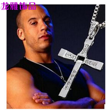 European and American Jewelry Torredo Speed Passion 8 Pendant Cross Necklace Mens