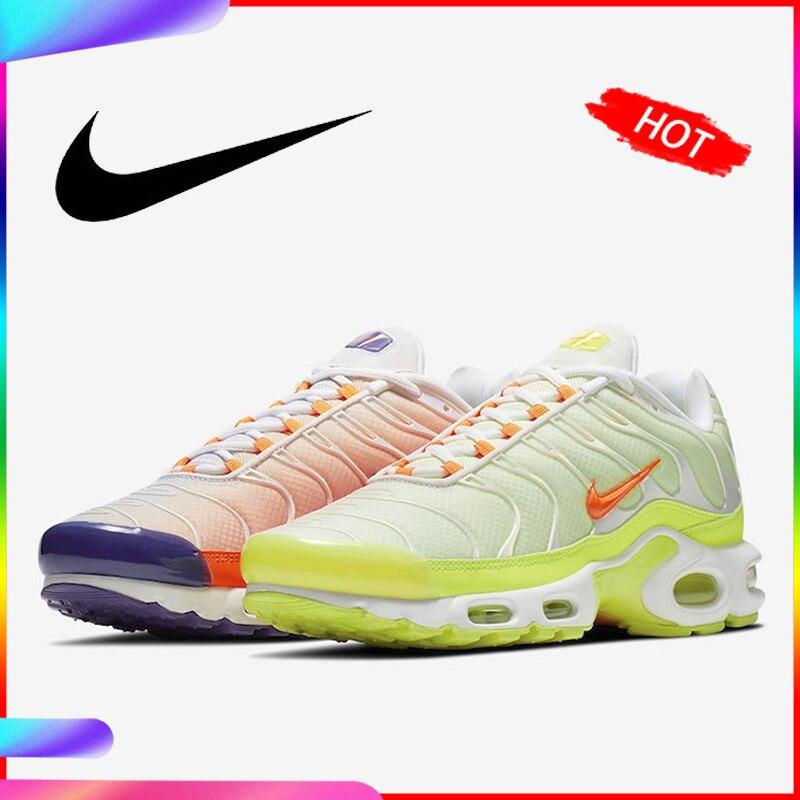 Original authentique Nike Air Max TN Plus couleur Flip chaussures de course pour hommes respirant baskets sport 2019 nouveauté CI5924-531